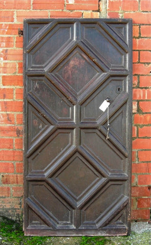Antique Carved Walnut Door