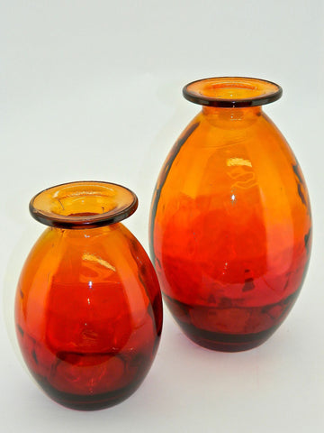 "Small ""Sunset"" Glass Bulb Vase"
