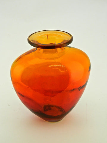 "Small Round ""Sunset"" Glass Vase"