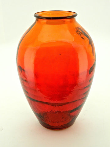 "Heart-Shaped ""Sunset"" Glass Vase"
