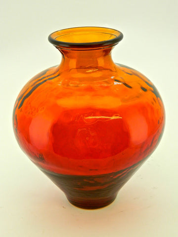 "#AC1494, ""Sunset"" Glass Roman Vase"