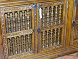 Four-door reproduction Spanish colonial sideboard / credenza, cachimbo