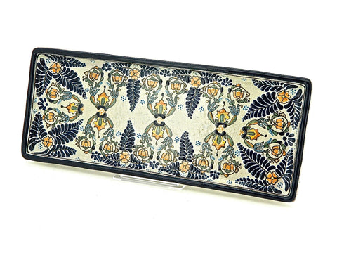 "Large Talavera Hors D'oeuvres Tray - ""HELECHO"""