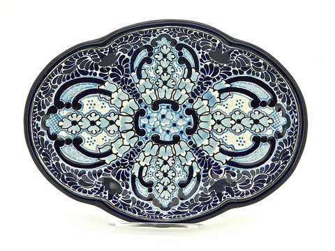 "Small Oval Talavera Serving Platter - ""REGINA"""