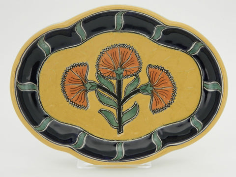 "Large Oval Talavera Serving Platter - ""PUERTO VALLARTA"""