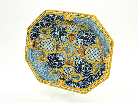 "Small Oval Talavera Serving Platter - ""REYNA"""