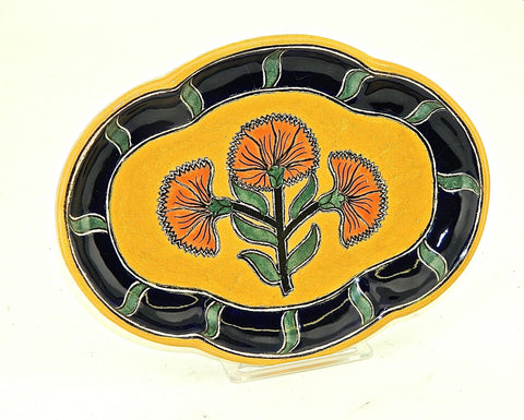 "Small Oval Talavera Serving Platter - ""PUERTO VALLARTA"""