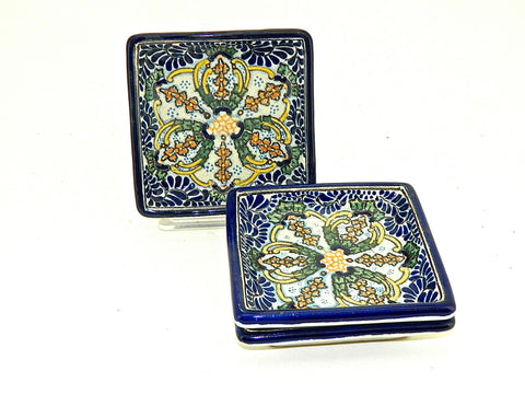"Large Oval Talavera Serving Platter - ""REYNA"""