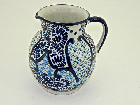 "Talavera Water / Wine Pitcher - ""MEDALLON MORISCO"""
