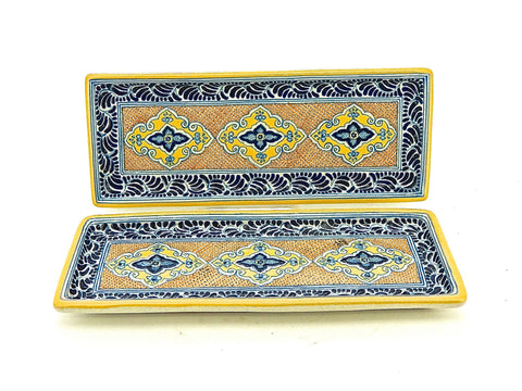 "Medium Talavera Hors D'oeuvres Tray - ""MEDALLON MORISCO"""