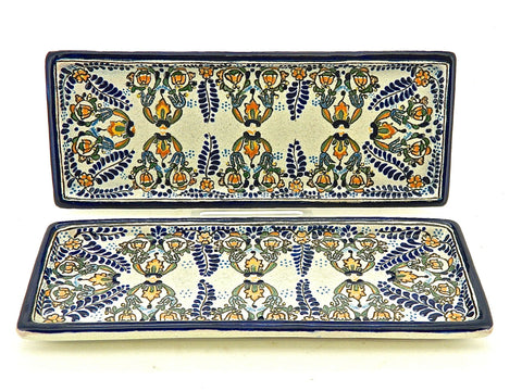 "Small Oval Talavera Serving Platter - ""MEDALLON MORISCO"""
