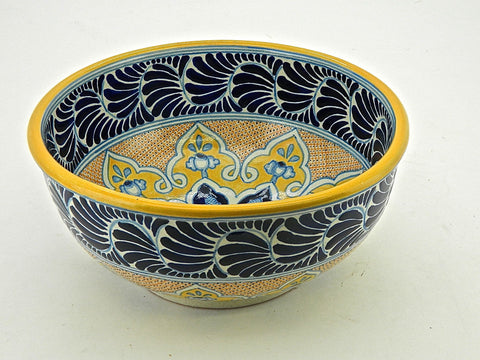 "Large Talavera Pasta Bowl - ""MEDALLON MORISCO"""