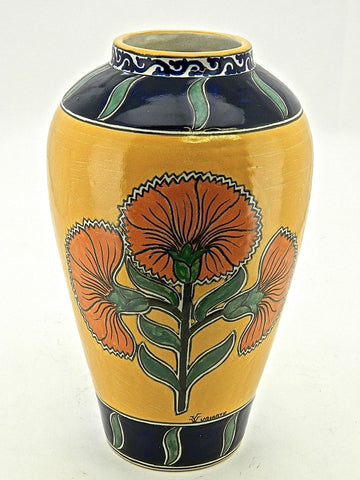 "Tall Carrot-Shaped Talavera Urn - ""HELECHO"""