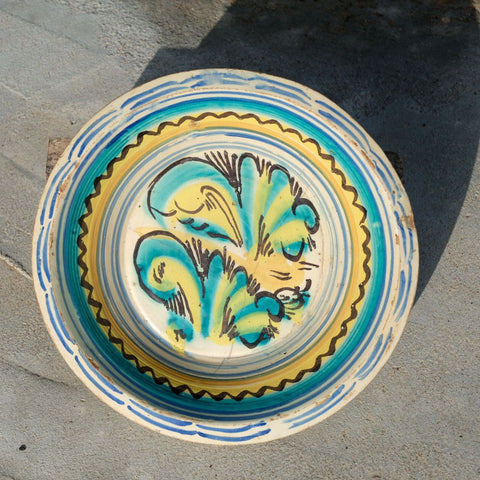 Antique painted Talavera plate