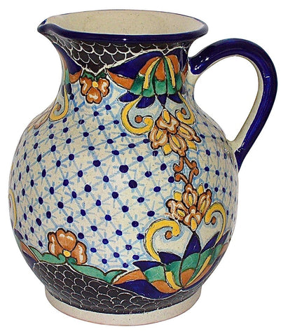 "#JB020C210, Talavera Water / Wine Pitcher - ""MEDALLON MORISCO"""