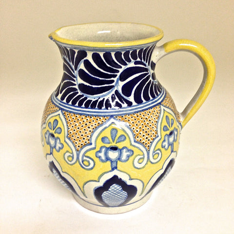 "Talavera Water / Wine Pitcher - ""HELECHO"""