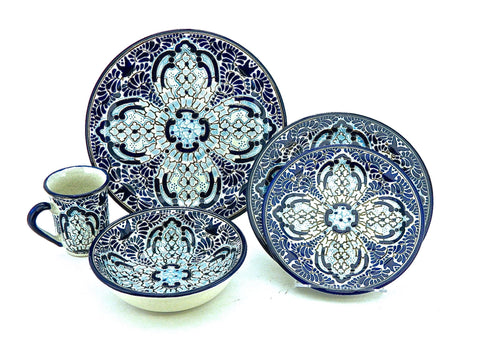 "#ST005C071, Five-piece Talavera Dinnerware Set - ""REYNA ANA"""