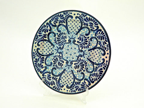 "Talavera Dinner Plate - ""MEDALLON MORISCO"""
