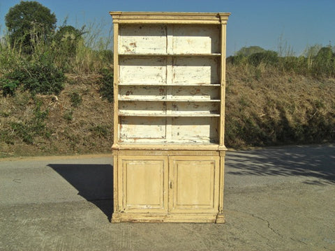 Antique painted two-door pharmacy cabinet, pine