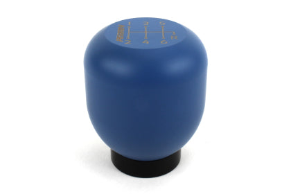 Perrin '17-'20 Honda Civic Blue Stainless Steel Large Shift Knob - 6 Speed