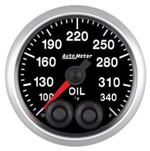 Auto Meter Elite Series 52mm Oil Temperature Gauge