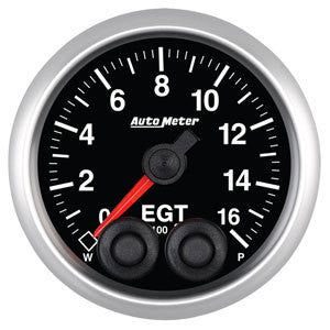 Auto Meter Elite Series 52mm Exhaust Gas Temperature Gauge