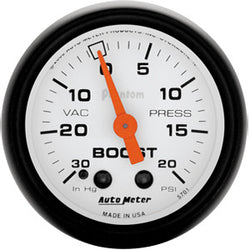 Autometer Phantom 30psi Mechanical Boost Gauge