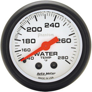 Autometer Phantom 100-250 Electric Water Temp Gauge