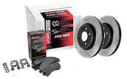 StopTech Street Axle Pack '08-'14 Subaru WRX STI Front and Rear  Slotted and Brake Pads