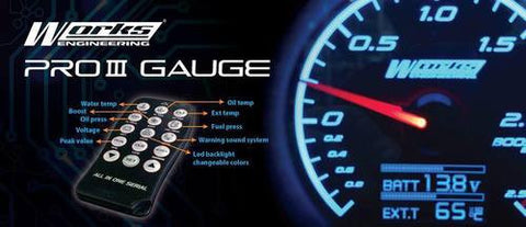Works Engineering PRO 3 Oil Pressure Gauge