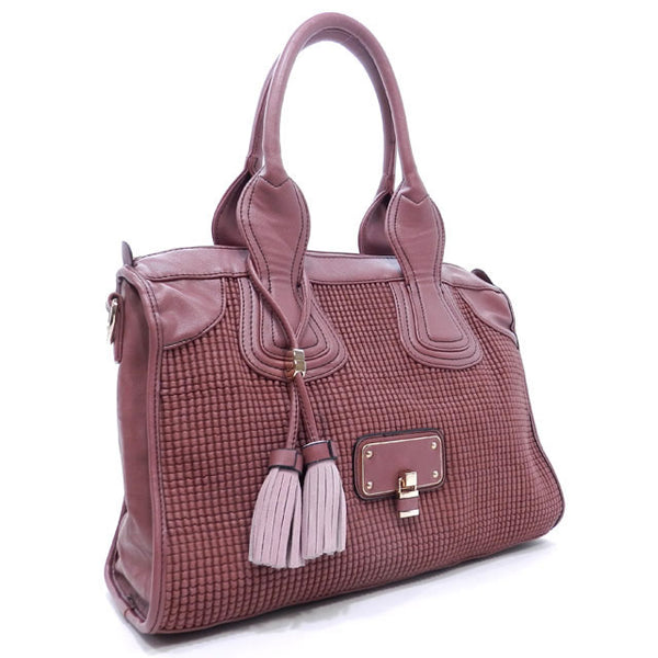 NEW Isabelle Embossed Satchel
