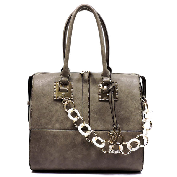 NEW Acrylic Chain Top Handle Day Satchel