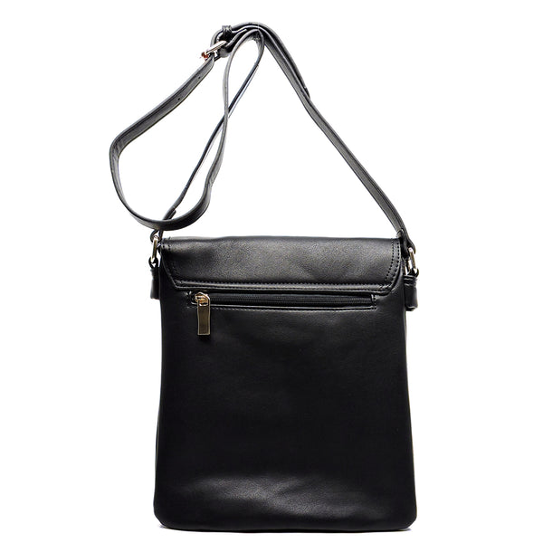 Colorblock Twist Lock Cross Body Bag