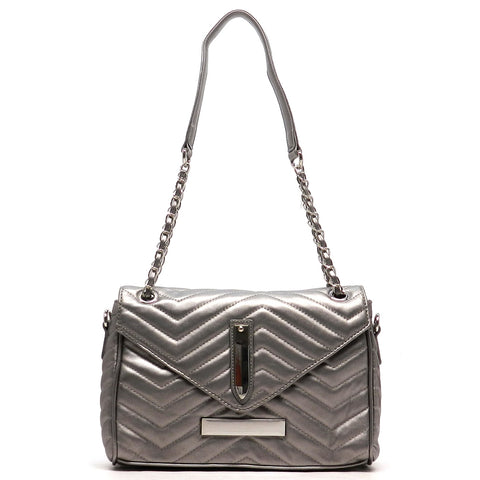 Chevron Quilted Shoulder Bag