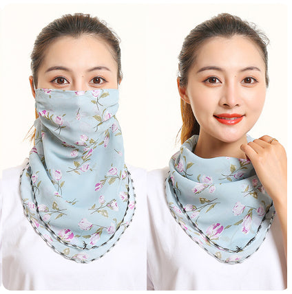 1 Fits All - LBlue Purple Wht - Face Mask Scarf