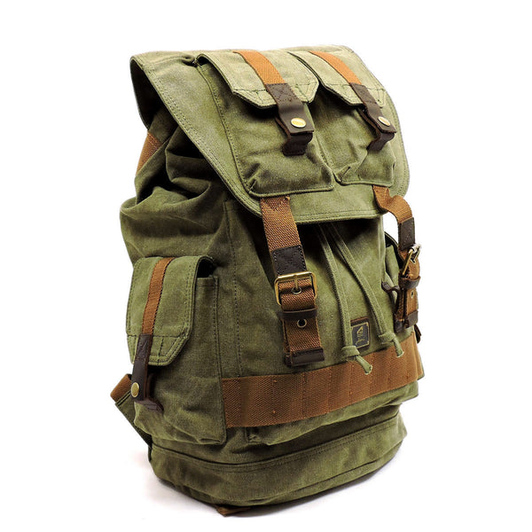Military Canvas Hiking Backpack