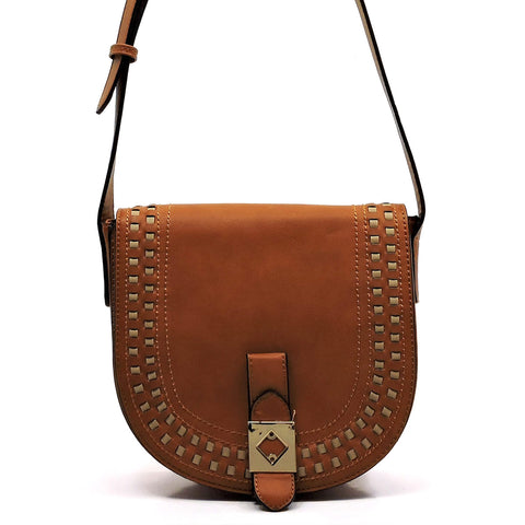 Fashion Flap Over Saddle Crossbody Bag