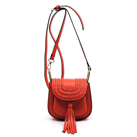 Fashion Tassel Saddle Crossbody Bag