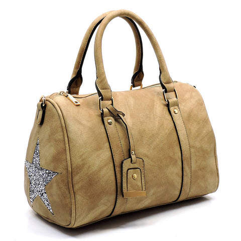 Sparkle Star Boston Bag
