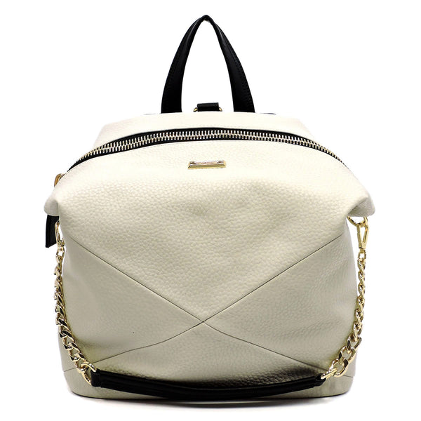 Fashion Tote Backpack Cement White