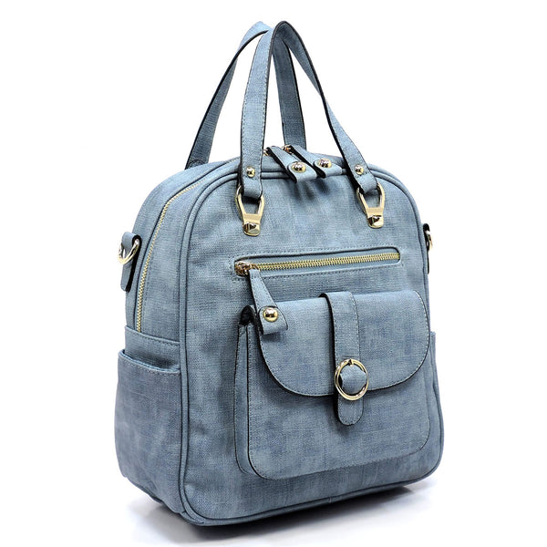 NEW Textured Convertible Tote Backpack