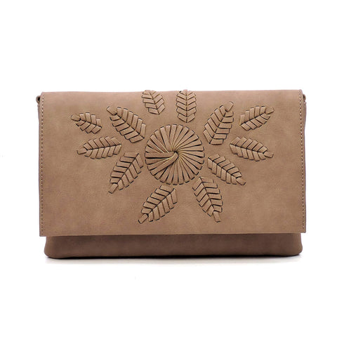 Flower Flap Clutch Crossbody
