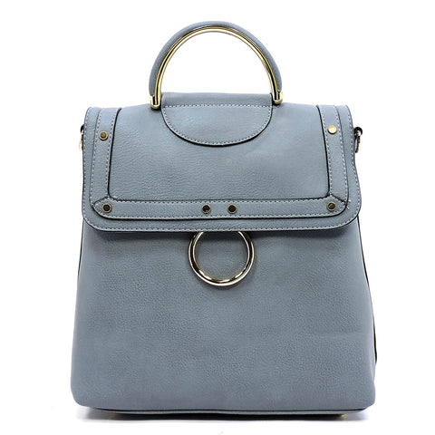 NEW O ring Flap Convertible Backpack Satchel