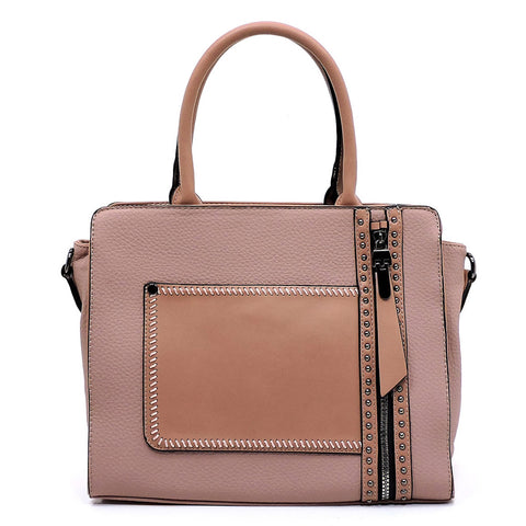 NEW Fashion Zip Boxy Satchel