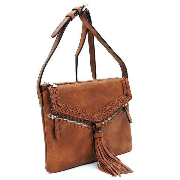 Fashion Tassel Envelope Crossbody Bag