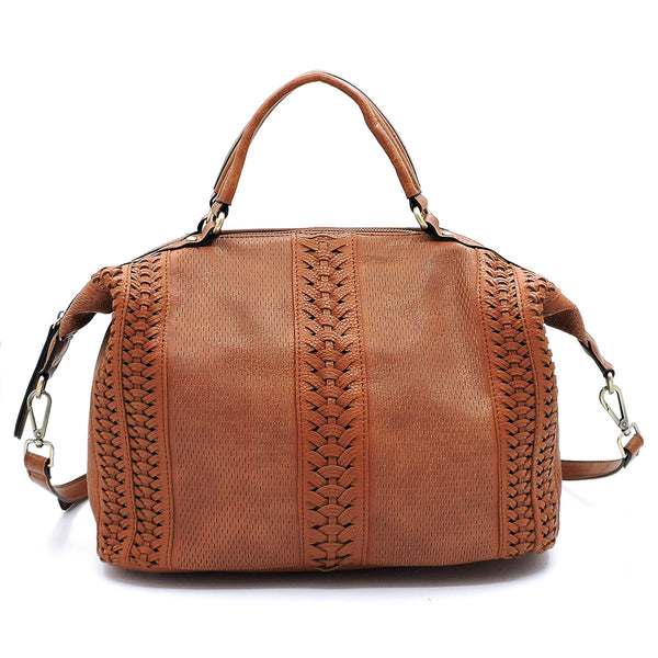 Fashion Laser Cut Printed Satchel