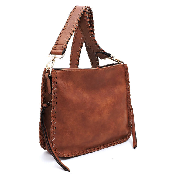 NEW Fashion Side Zipper Messenger Crossbody Bag