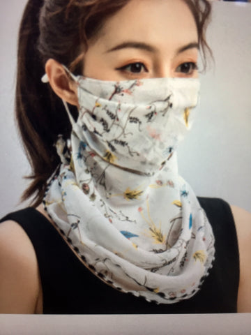 1 Fits All - WhiteBY - Face Mask Scarf