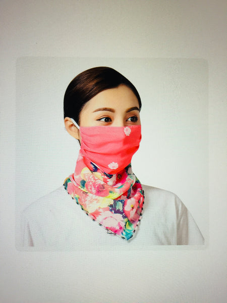 1 Fits All - Pink Combo - Face Mask Scarf