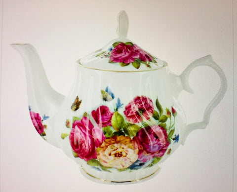 Flowery Gracie China Porcelain Teapot